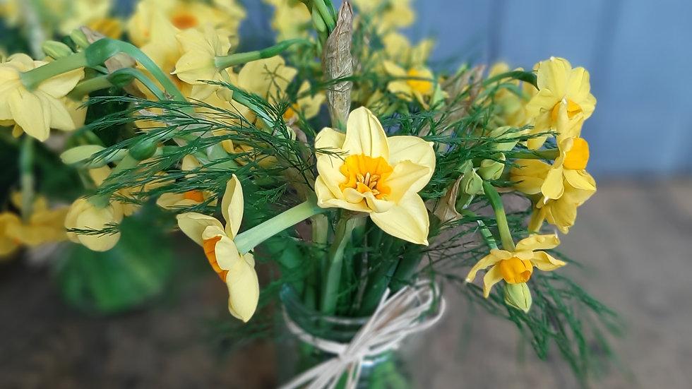 Daffodils for Mummy and keychain Teddy bear.