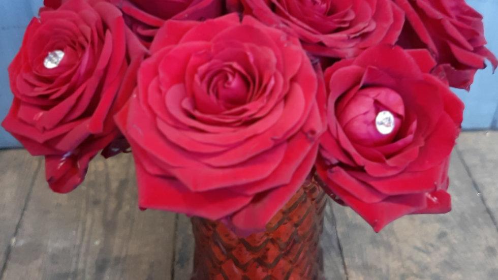 Vermillion vase.