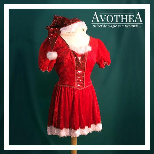 Kerstvrouw kostuum 1