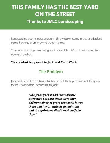 Case Study - JMLC Landscaping