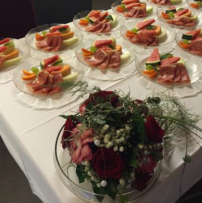 Melonen-Rohschinken-Teller