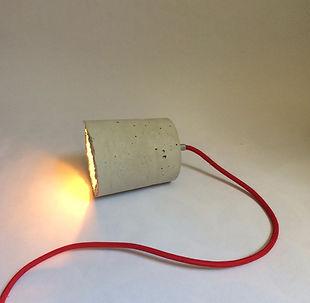 betonnen lamp