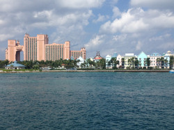 Passing through Nassau Harbor Paradis Island