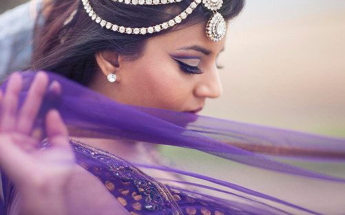 Indian bridal make-up by Sarah Francis of Rouge Make-up Artistry in Calgary