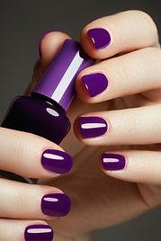 Bottle Of Nail Polish. Beauty Hands. Tre