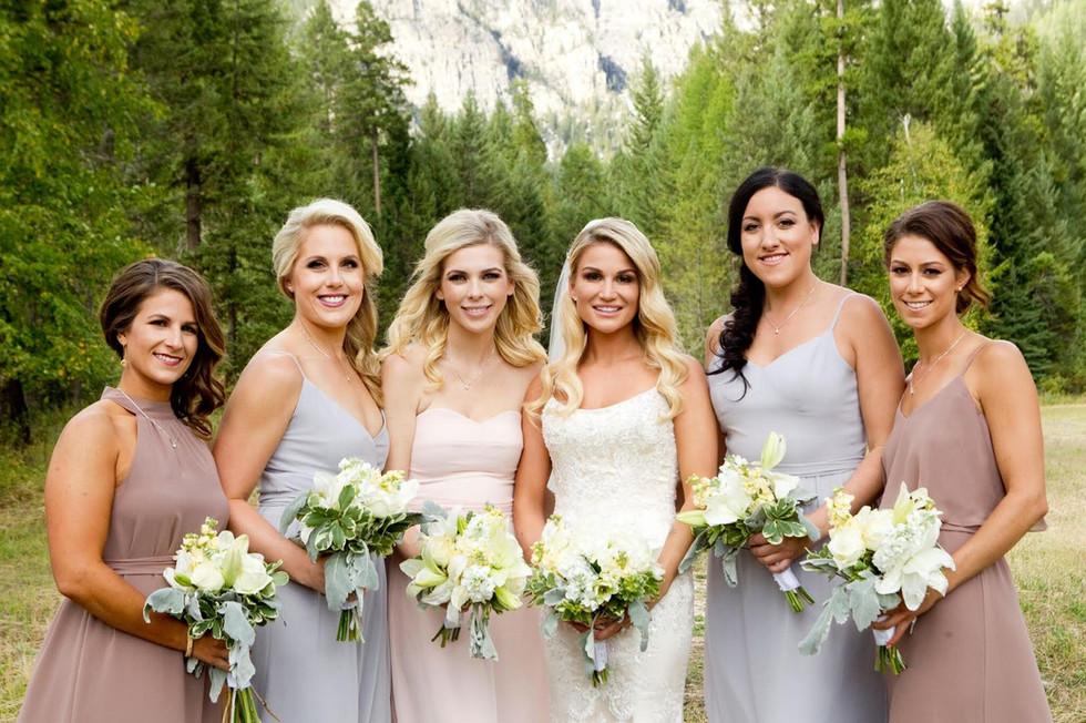 Bridal party make-up Calgary