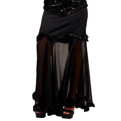 Long black evening skirt