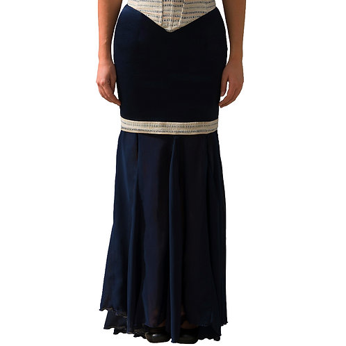 Flamenco Deep Blue Skirt