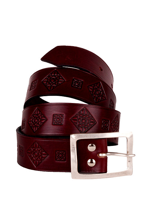 Spanish Leather Hand Engraved Belt