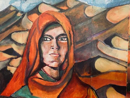 TRIBAL WOMAN IN DUNES