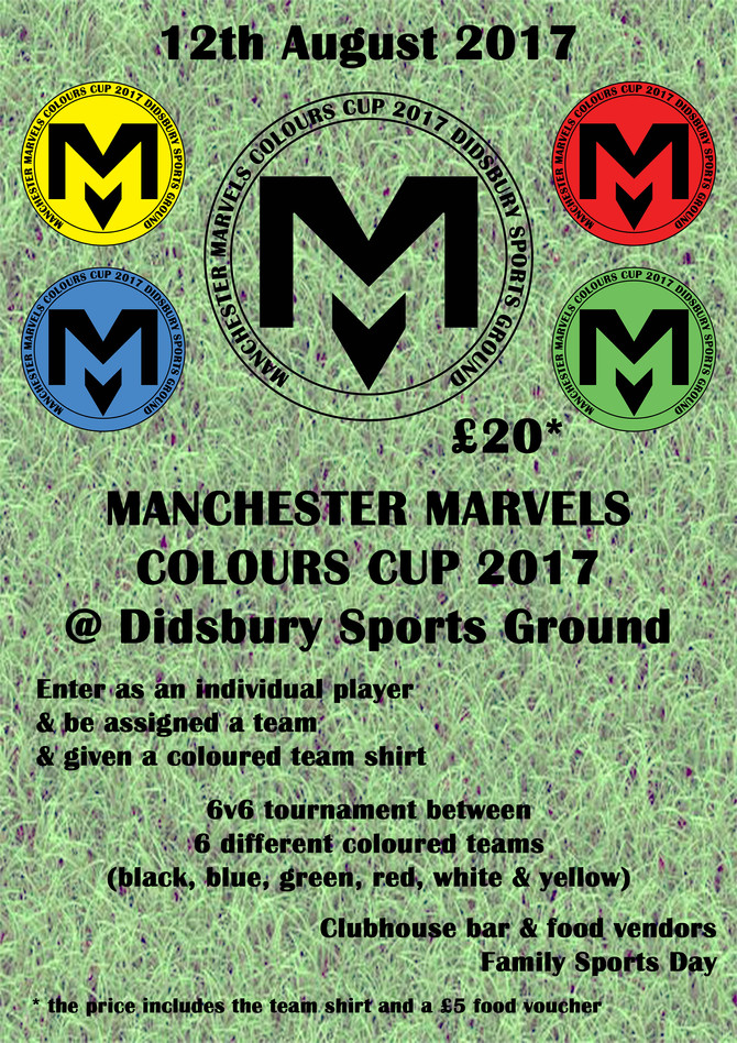Manchester Marvels Colours Cup 2017