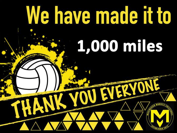 1,000 mile marker