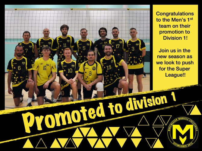 Men's 1 promoted to division 1