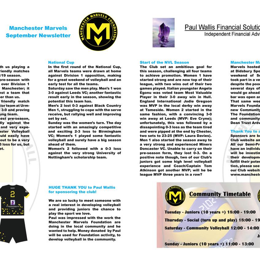 September Newsletter p1