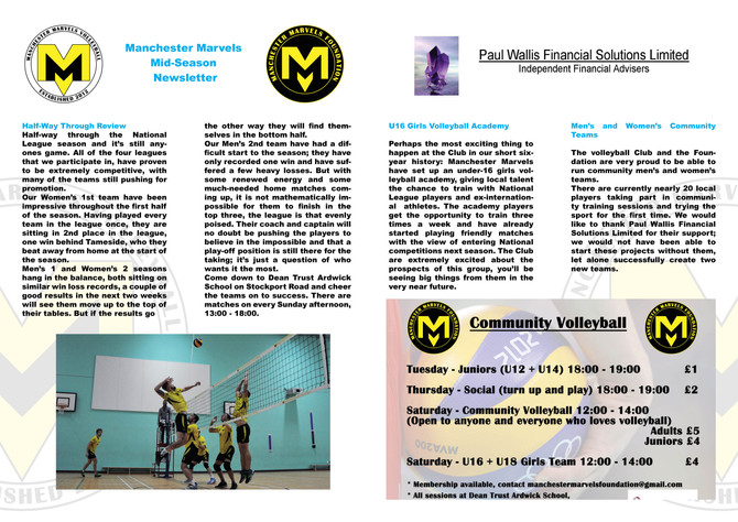 Mid-Season Newsletter
