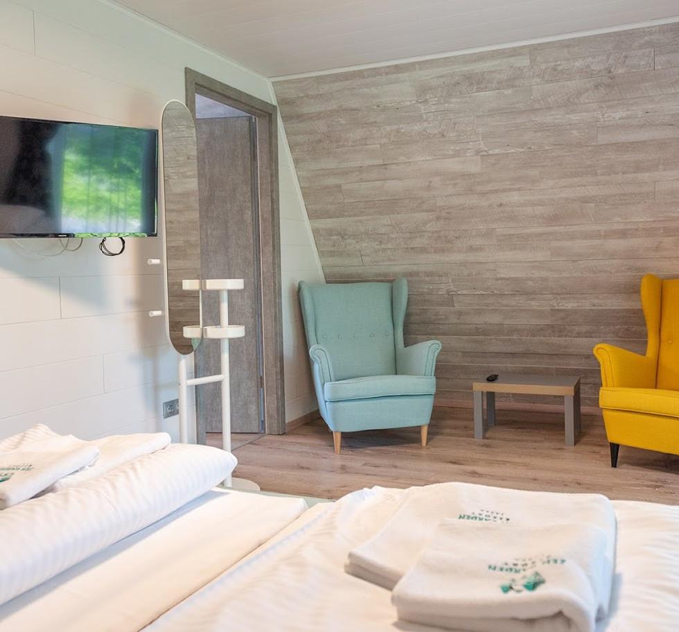 Alpesi apartman (4+2 fő) hálószoba / Alpine Apartments (4+2 guests) bedroom