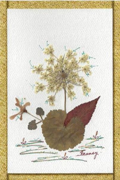 Paquet de 10 cartes fait main - Fleurs séchées - Modèles disponibles