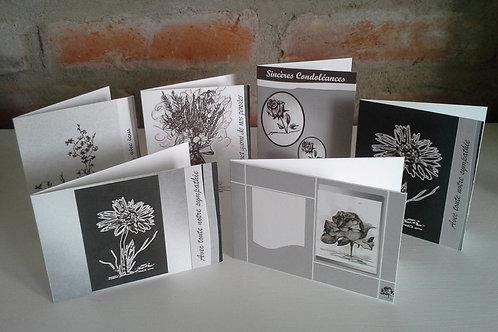 Petites Cartes Noir et blanc - paquet de 10 cartes différentes