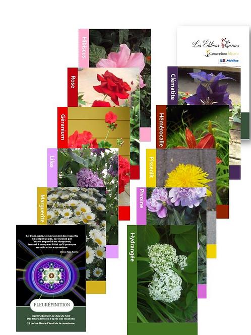 Jeu de cartes - Message des fleurs