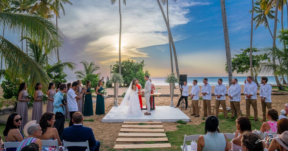 Villa Del Mar Wedding - 4 wedding altar
