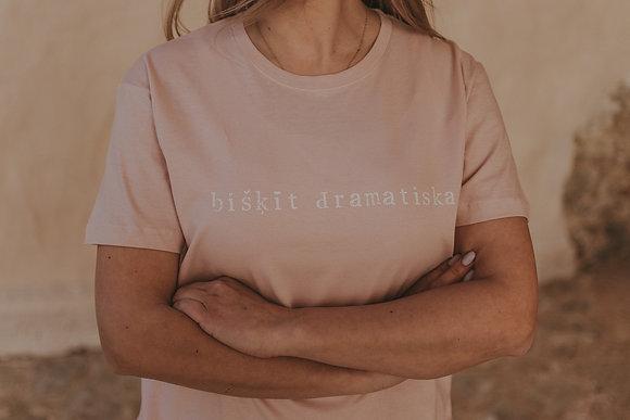 """Pasteļtoņu t-krekls """"bišķīt dramatiska"""""""