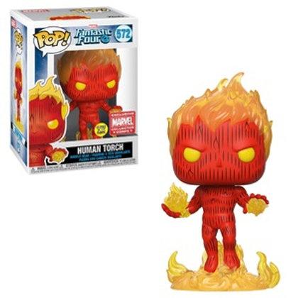 Funko POP! Fantastic Four - Human Torch GITD MCC (572)