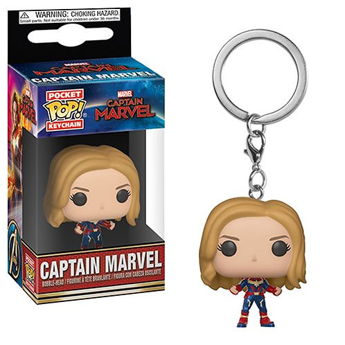 Funko POP! Keychain Captain Marvel - Captain Marvel Unmasked