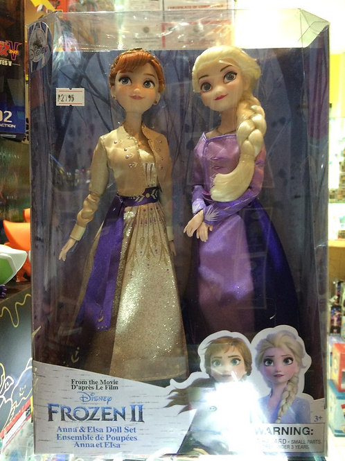 Disney Frozen 2 - Anna and Elsa Doll Set