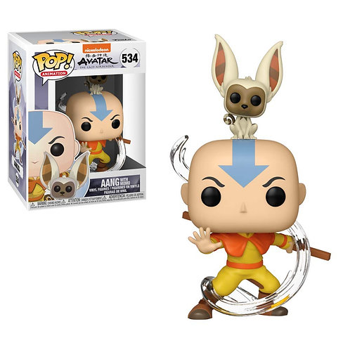 Funko POP!  Avatar - Aang with Momo (534)
