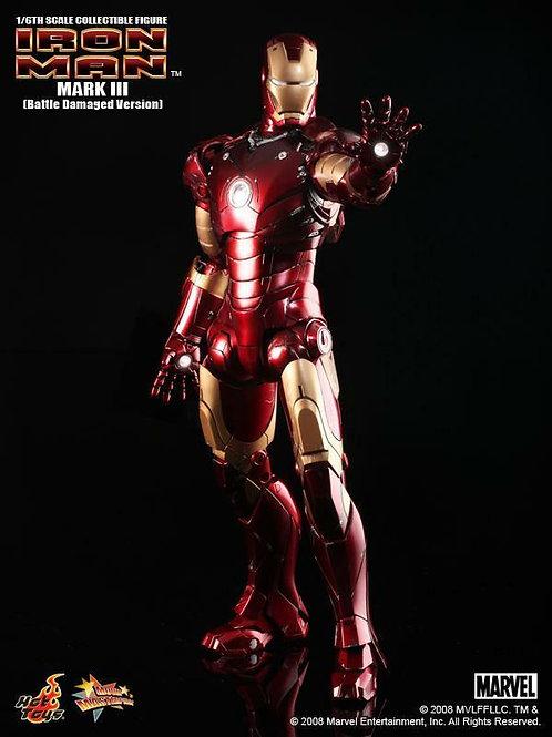 Hot Toys MMS 110 Iron Man Mark 3 battle damaged