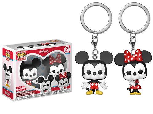 Funko POP! Keychain Mickey and Miinie 2pack