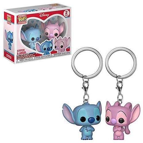 Funko POP! Keychain Stitch and Angel 2pack