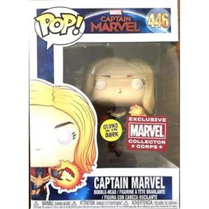 Funko POP! Captain Marvel - Captain Marvel Flying Unmasked GITD MCC (446)