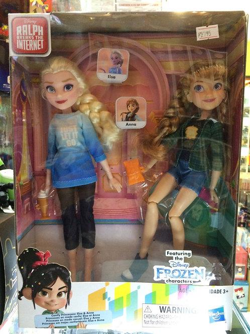 Disney Wreck it Raplh - Anna and Elsa Doll Set