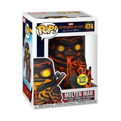Funko POP! Spider-man: Far From Home - Molten man Glow in The Dark  (474)
