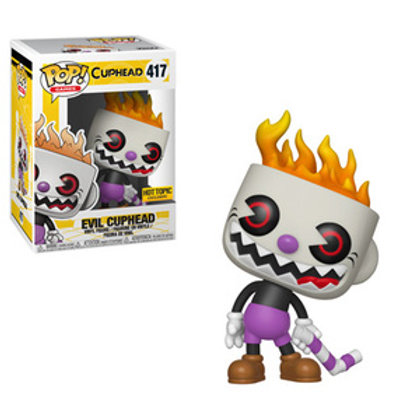 Funko POP! Cuphead - Evil Cuphead Hot Topic Ex  (417)