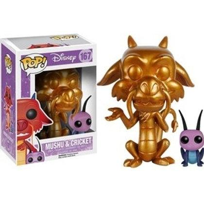 Funko POP! Disney Mulan - Gold Mushu and Cricket BB Exclusive (167)