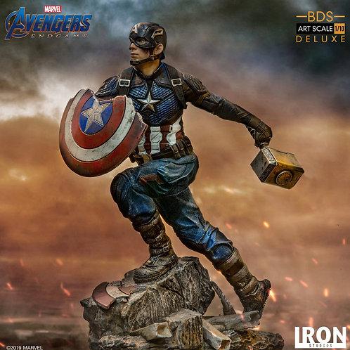 Iron Studios Marvel Avengers Endgame - Captain America Deluxe 1/10