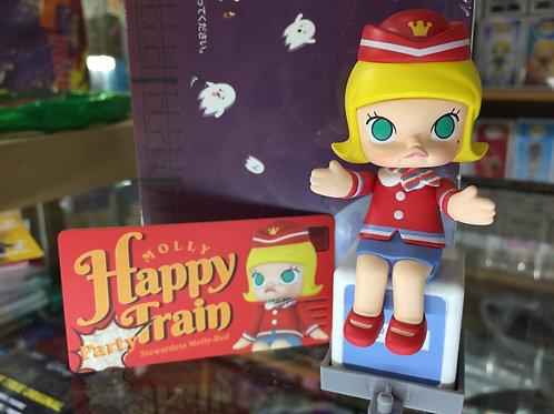 POPMART Molly Happy Train - Stewardess Molly-Red