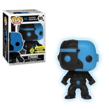 Funko POP! DC Super Heroes - Cyborg Silhouette SE Exclusive (95)