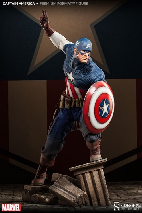 Sideshow Collectibles Marvel - Captain America Allied Charge Premium Format
