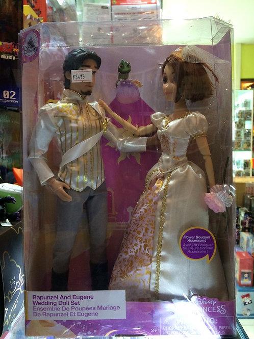 Disney Rapunzel and Eugene Wedding Doll Set