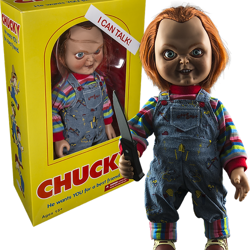 Mezco Child's Play Talking Good Guys Chucky 15' Doll Evil