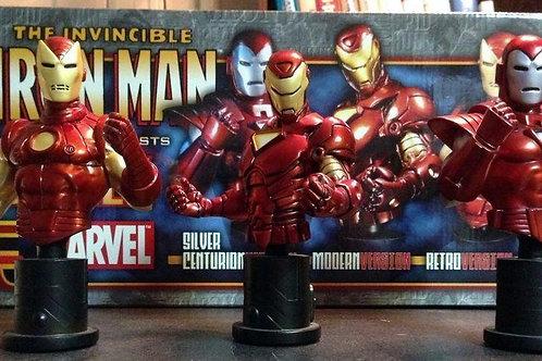 Bowen Designs 3pack Iron Man mini bust Centurion, Retro, Modern