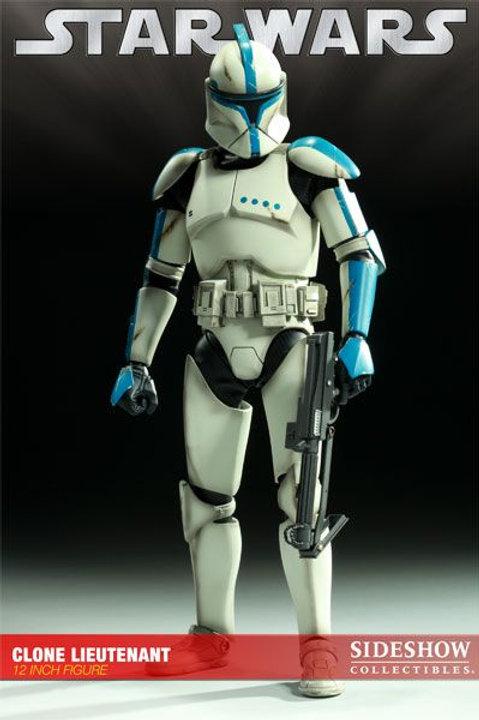 Sideshow Collectibles Star Wars Republic Clone Lieutenant Exclusive 1/6