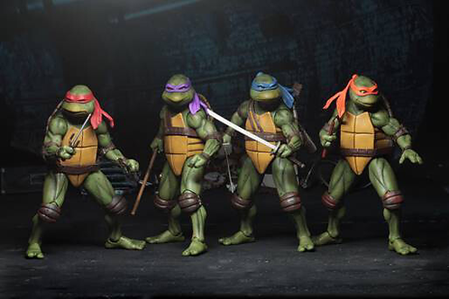 Neca TMNT Movie Version Set of 4