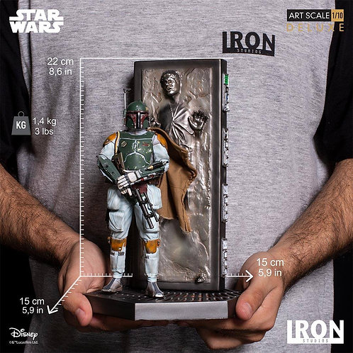Iron studios Star Wars - Boba Fett and Han Solo Carbonite 1/10 scale