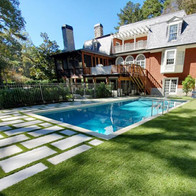 Pool renovation, pavers and turf