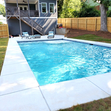 clean and modern swimming pool