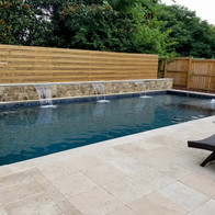 Travertine and stone new pool
